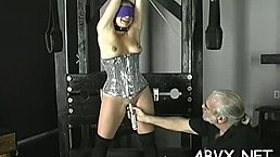 Dilettante hottie with fine forms naughty bondage porn play
